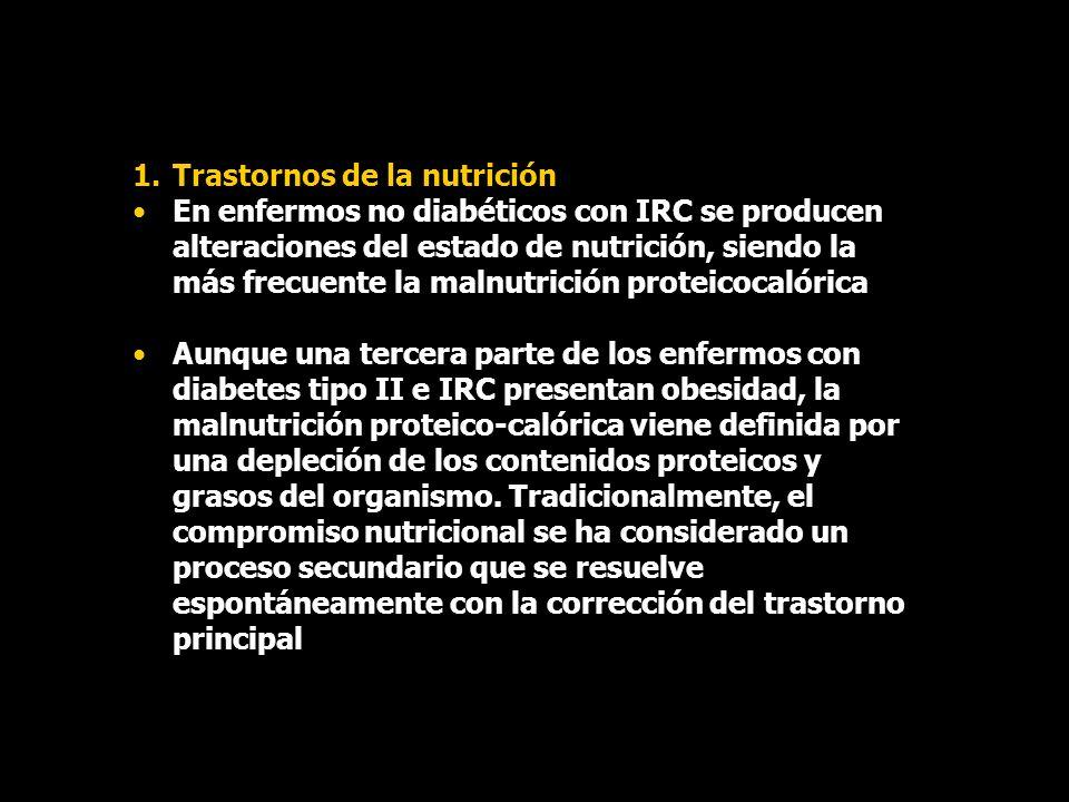 Trastornos de la nutrición