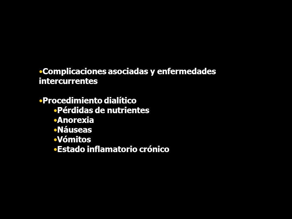 Complicaciones asociadas y enfermedades intercurrentes