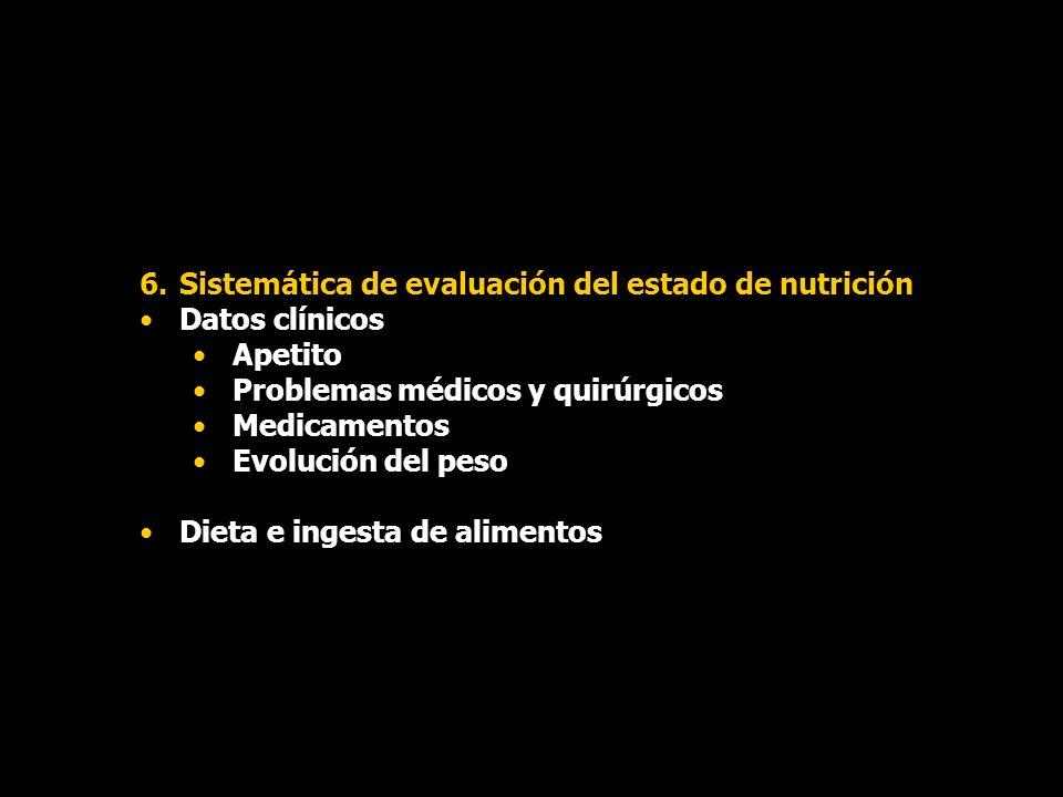 Sistemática de evaluación del estado de nutrición