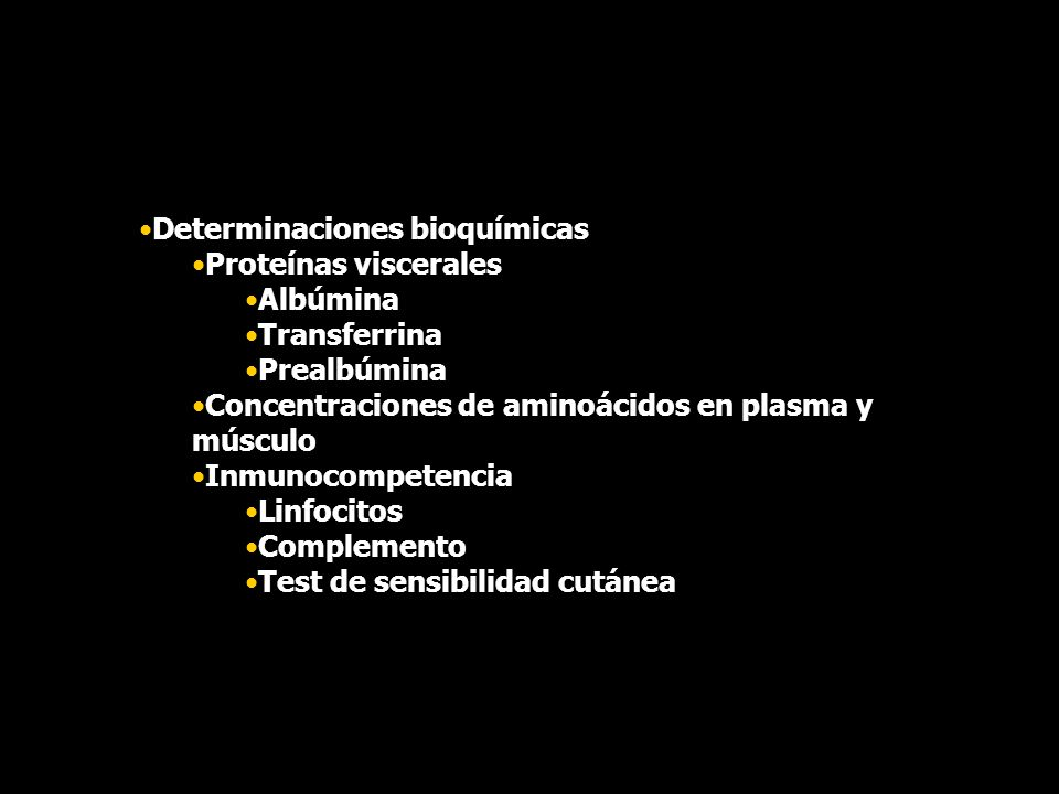 Determinaciones bioquímicas