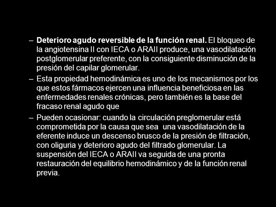 Deterioro agudo reversible de la función renal