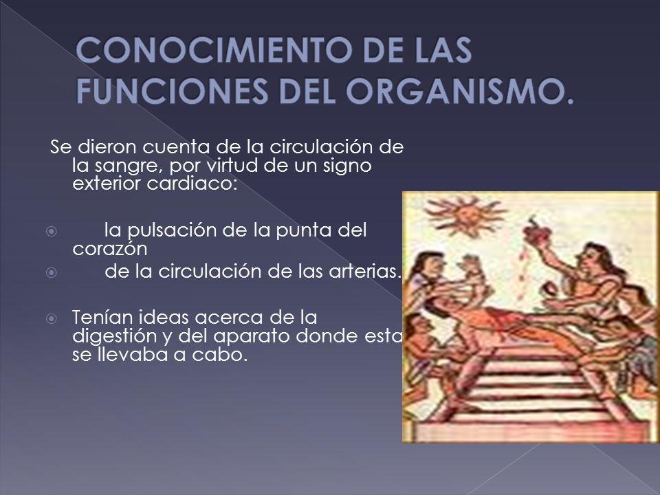 CONOCIMIENTO DE LAS FUNCIONES DEL ORGANISMO.
