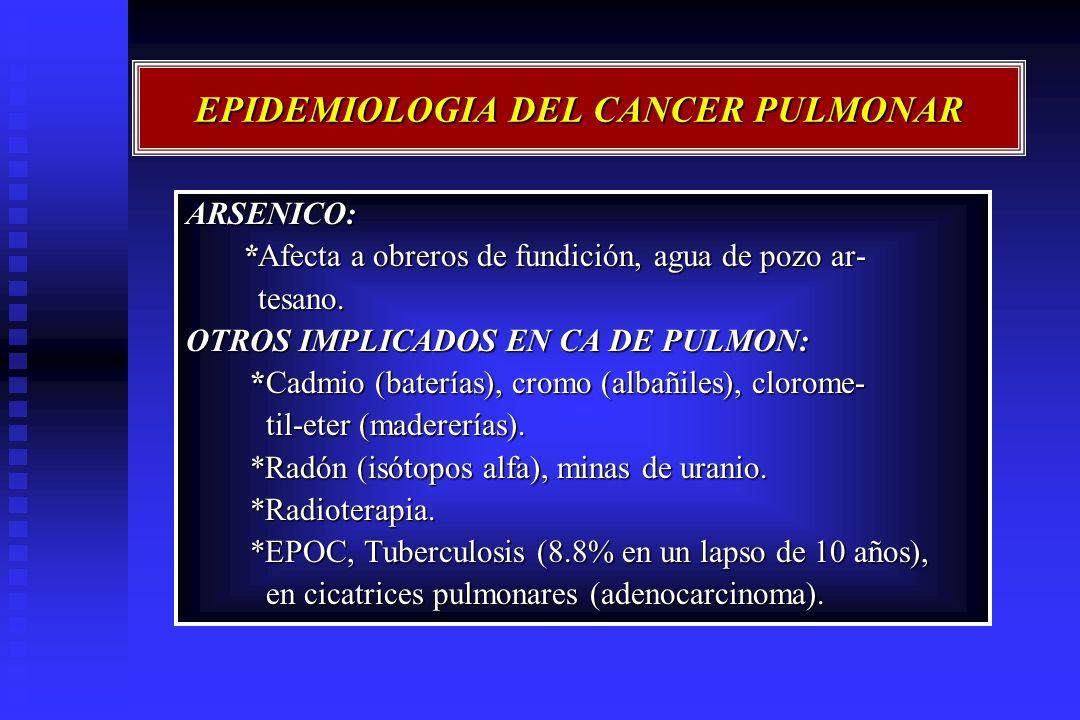 EPIDEMIOLOGIA DEL CANCER PULMONAR