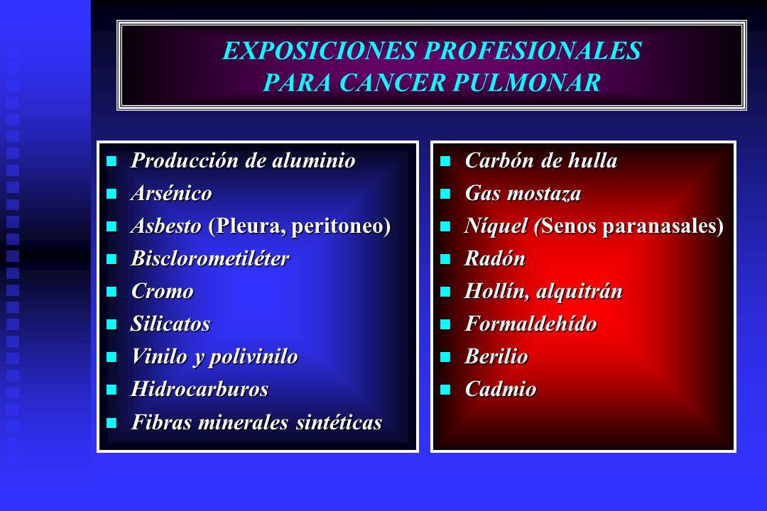 EXPOSICIONES PROFESIONALES PARA CANCER PULMONAR