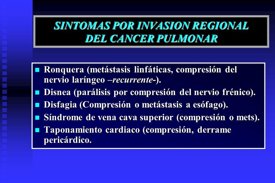 SINTOMAS POR INVASION REGIONAL DEL CANCER PULMONAR