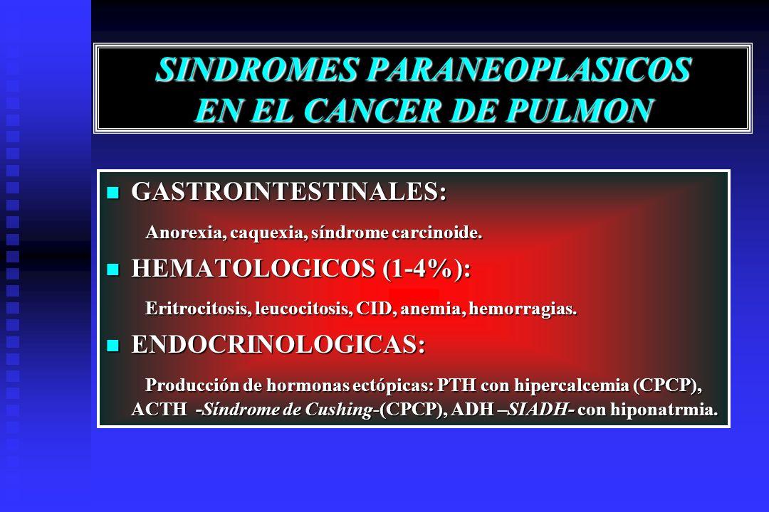 SINDROMES PARANEOPLASICOS EN EL CANCER DE PULMON