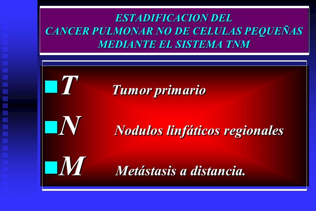 N Nodulos linfáticos regionales M Metástasis a distancia.