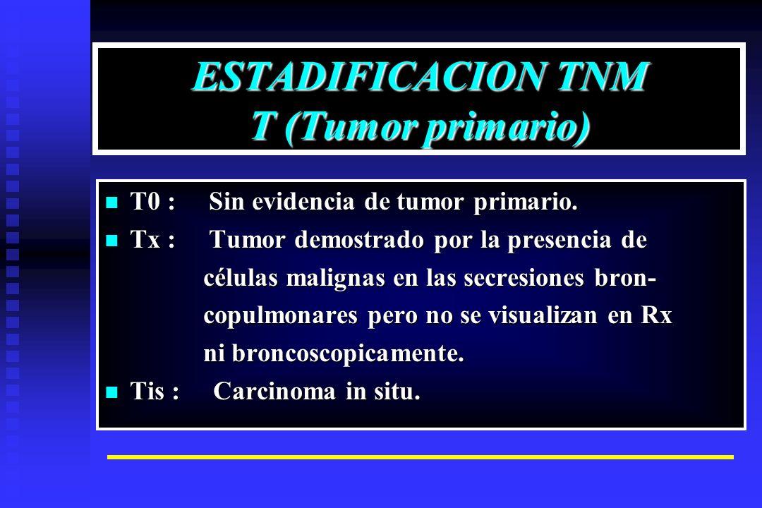 ESTADIFICACION TNM T (Tumor primario)