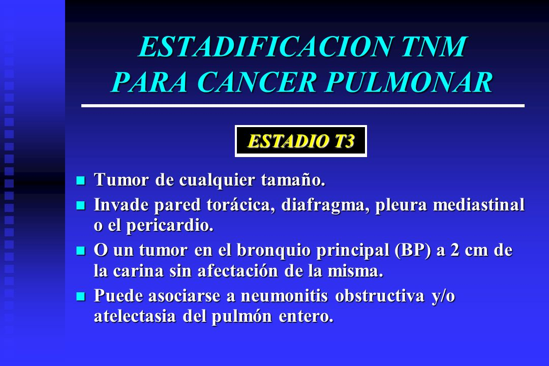 ESTADIFICACION TNM PARA CANCER PULMONAR