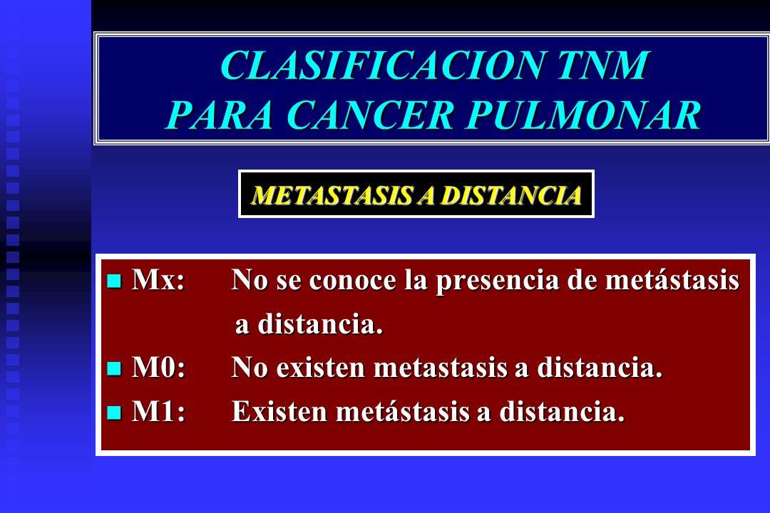 CLASIFICACION TNM PARA CANCER PULMONAR