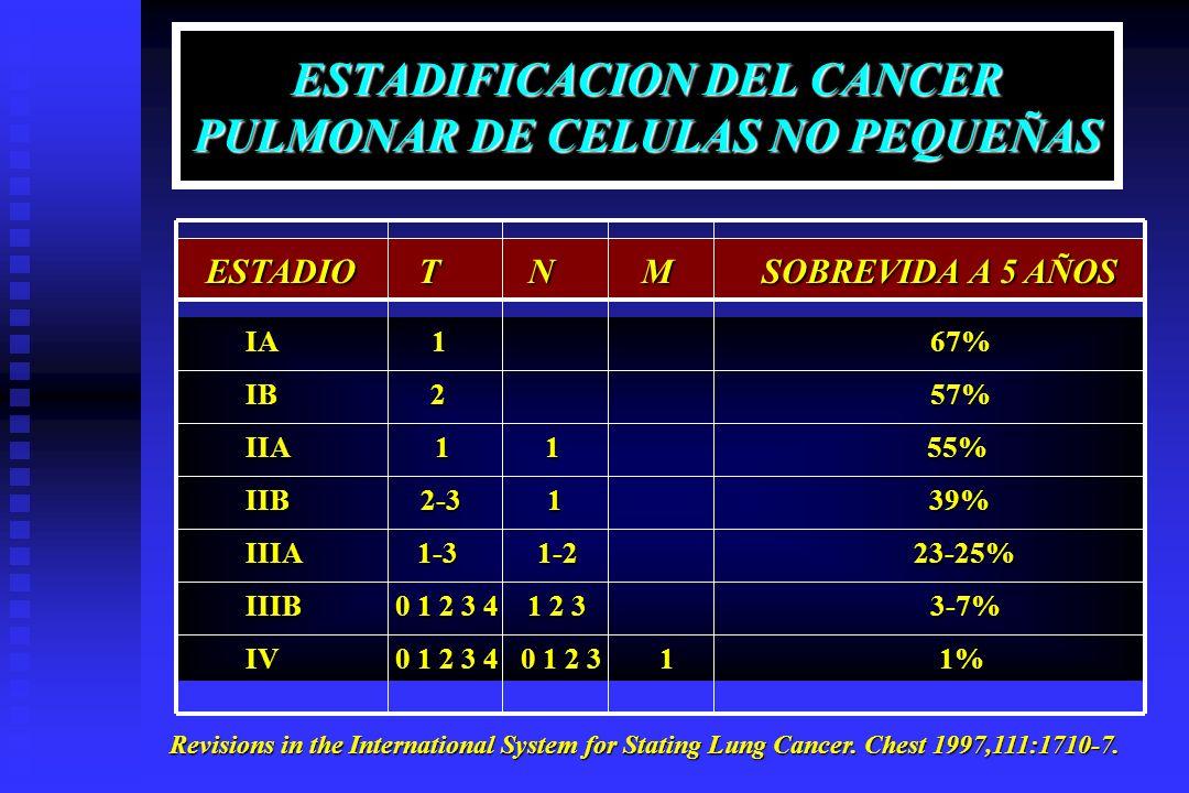 ESTADIFICACION DEL CANCER PULMONAR DE CELULAS NO PEQUEÑAS