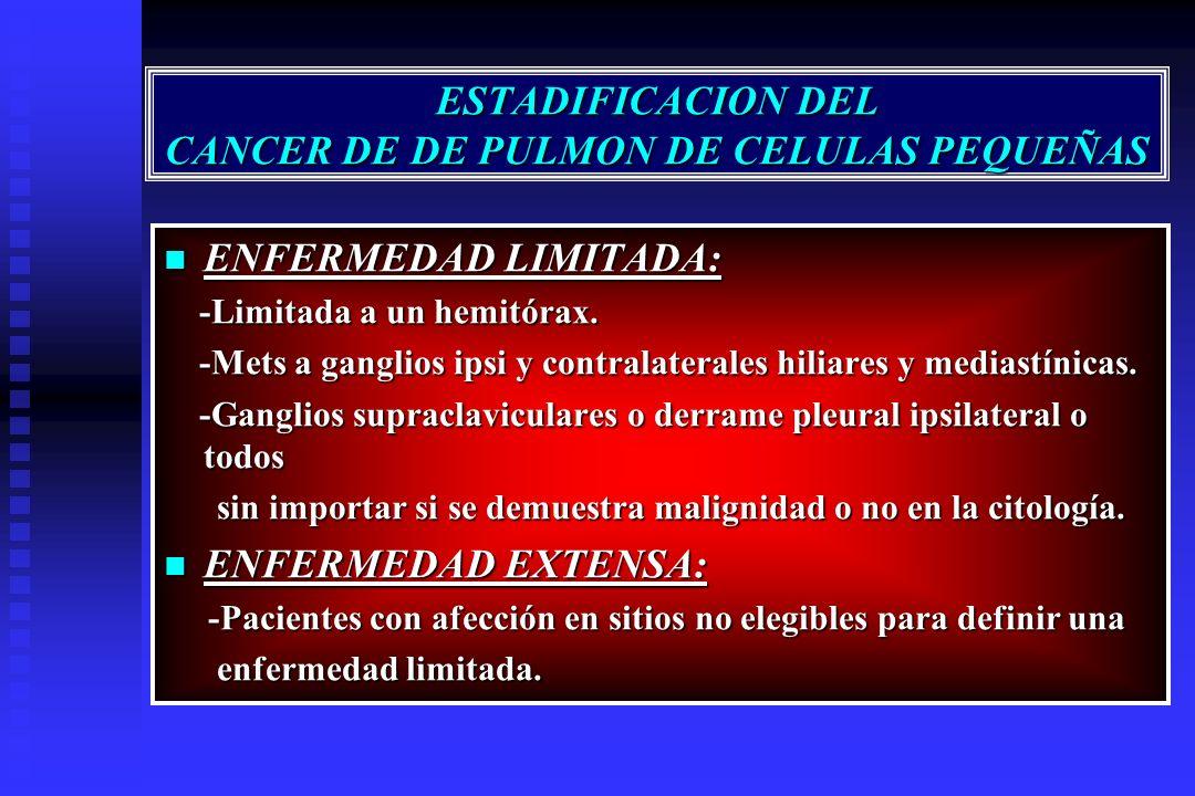 ESTADIFICACION DEL CANCER DE DE PULMON DE CELULAS PEQUEÑAS