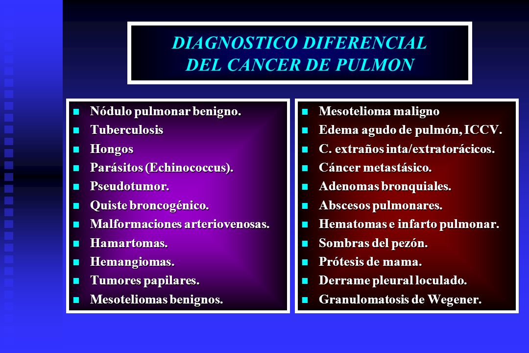 DIAGNOSTICO DIFERENCIAL DEL CANCER DE PULMON