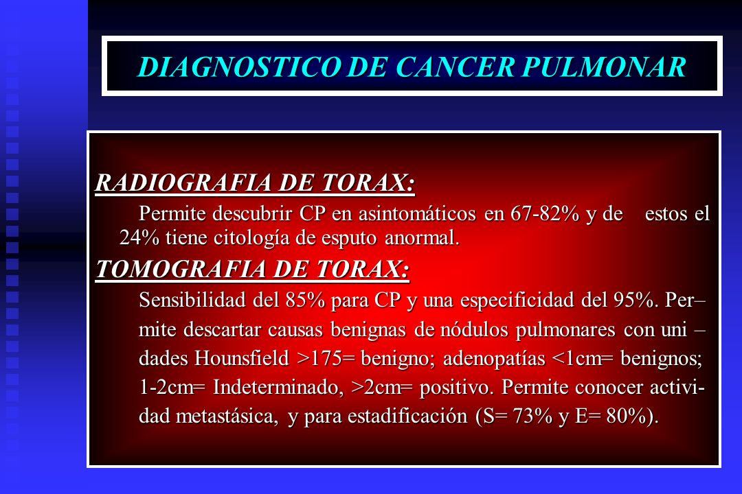 DIAGNOSTICO DE CANCER PULMONAR