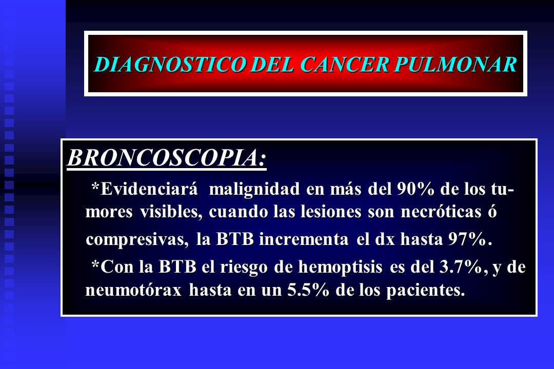 DIAGNOSTICO DEL CANCER PULMONAR