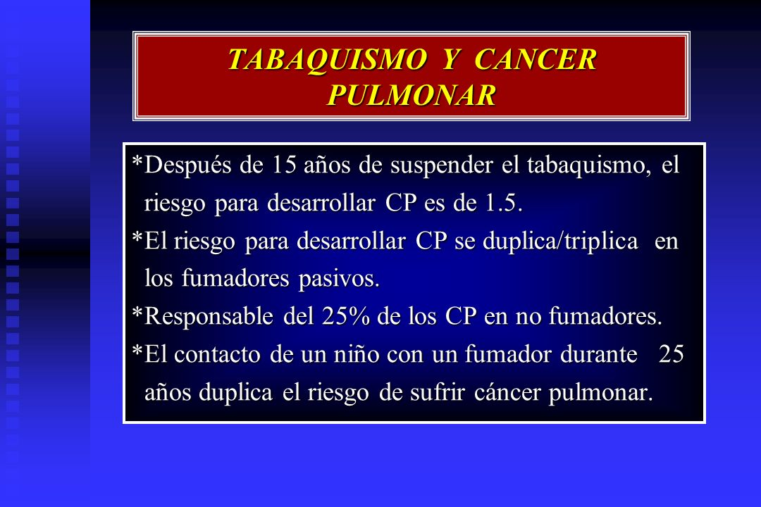 TABAQUISMO Y CANCER PULMONAR