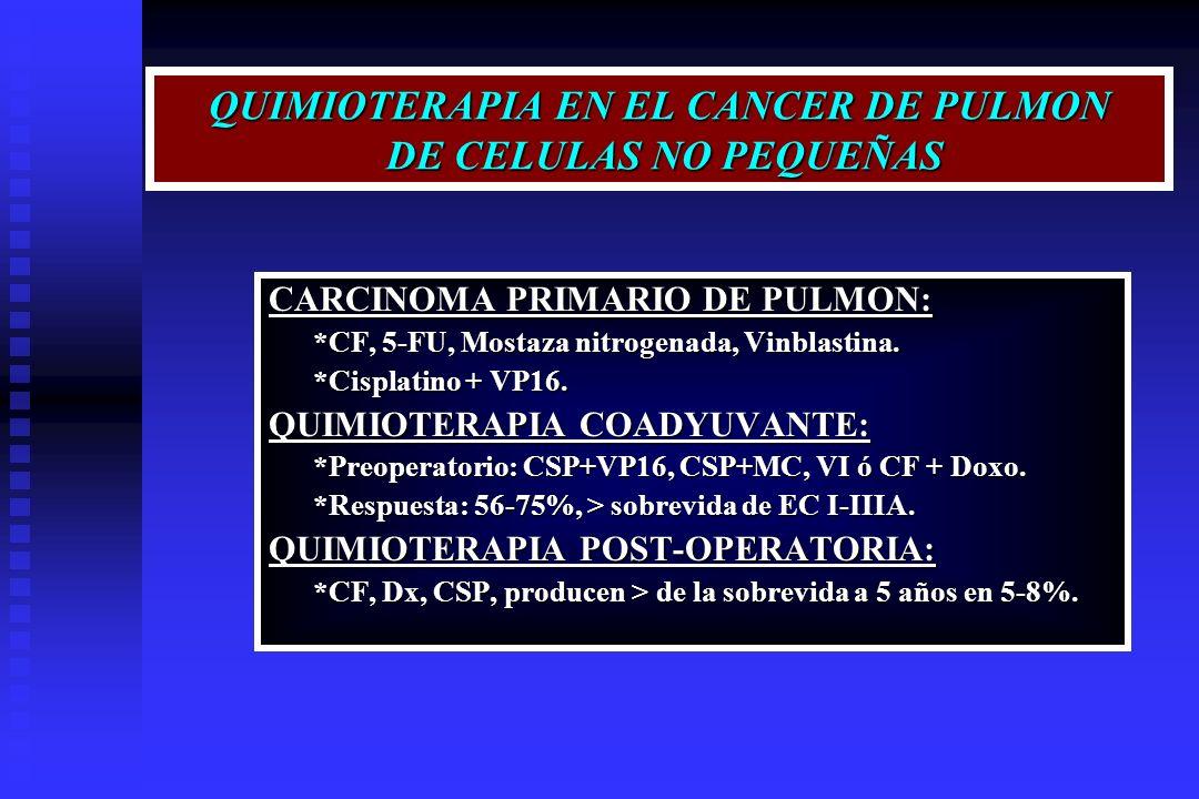 QUIMIOTERAPIA EN EL CANCER DE PULMON DE CELULAS NO PEQUEÑAS
