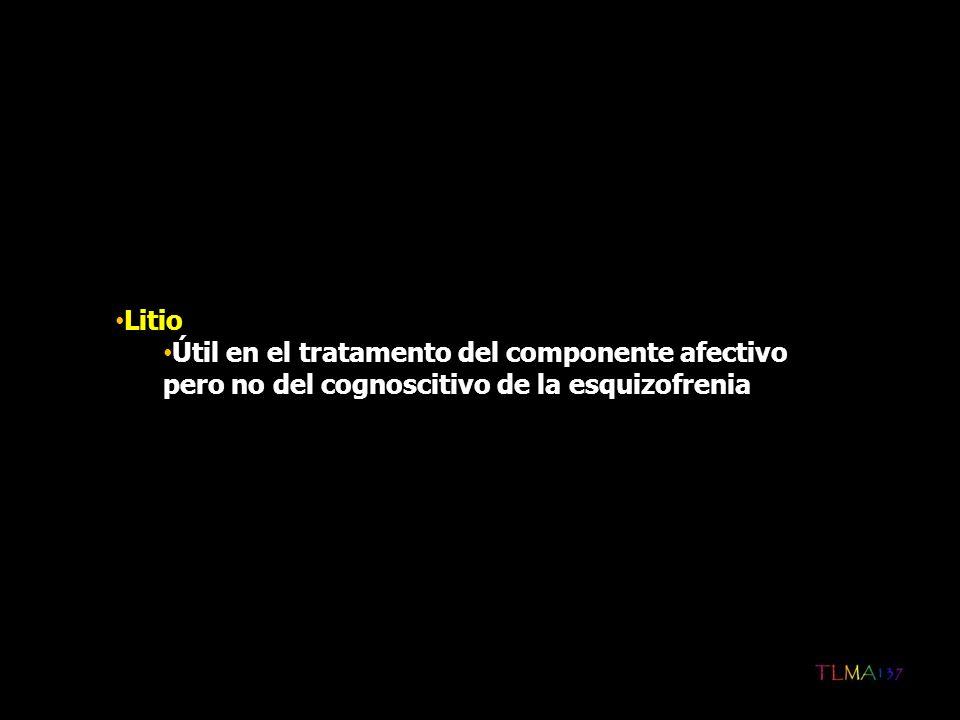 Litio Útil en el tratamento del componente afectivo pero no del cognoscitivo de la esquizofrenia