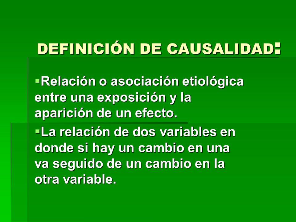 DEFINICIÓN DE CAUSALIDAD: