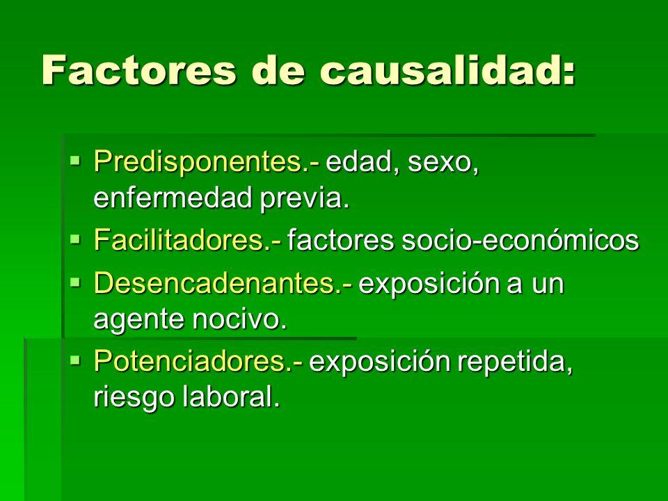 Factores de causalidad: