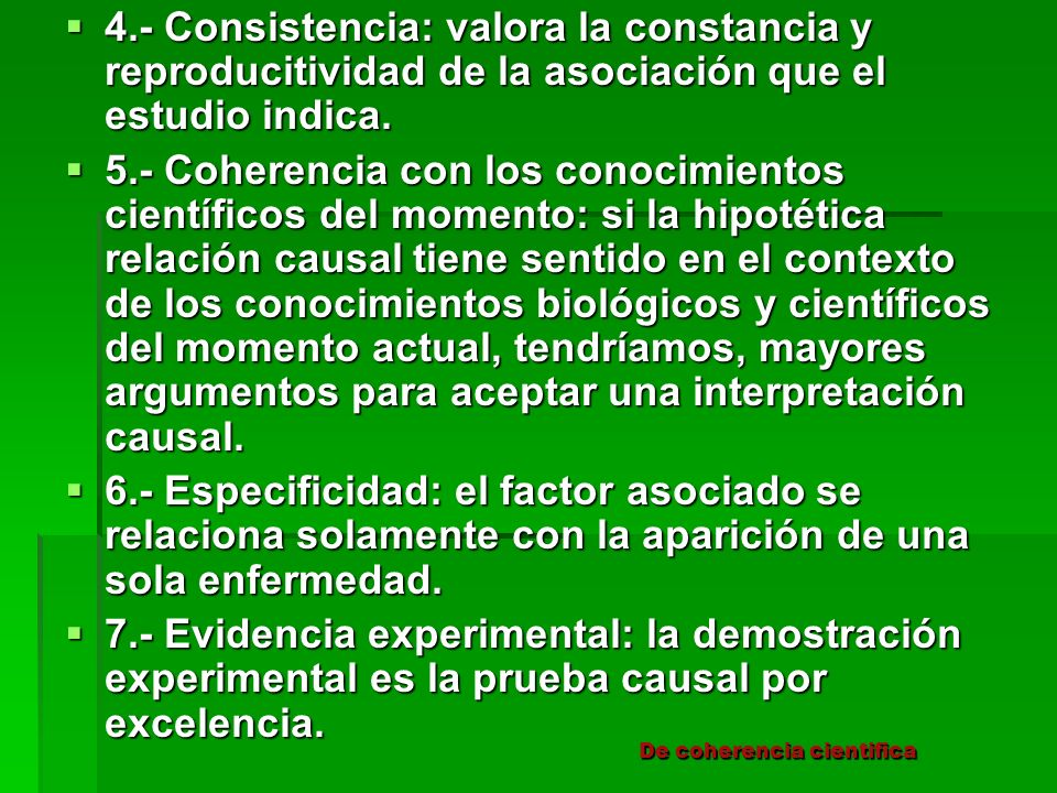 De coherencia cientifica