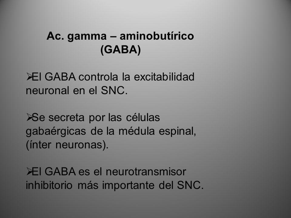 Ac. gamma – aminobutírico
