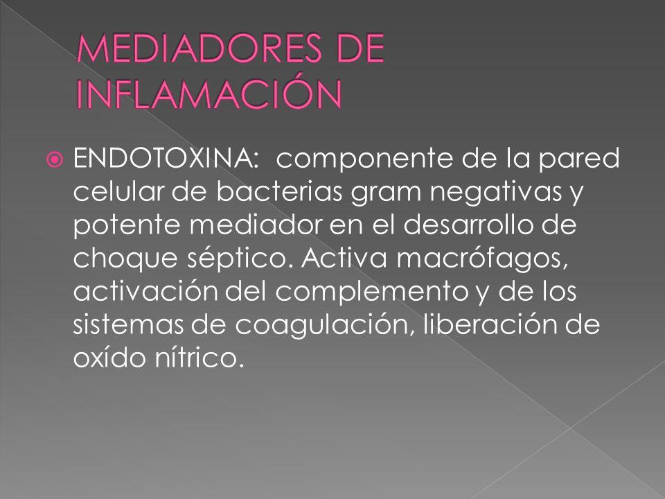 MEDIADORES DE INFLAMACIÓN