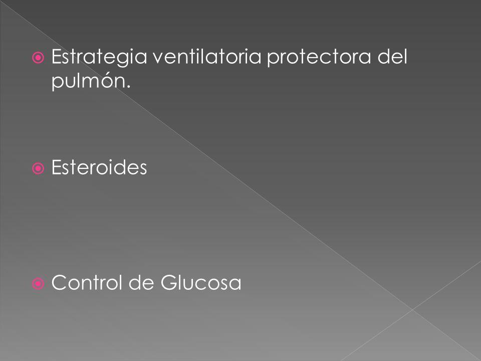 Estrategia ventilatoria protectora del pulmón.