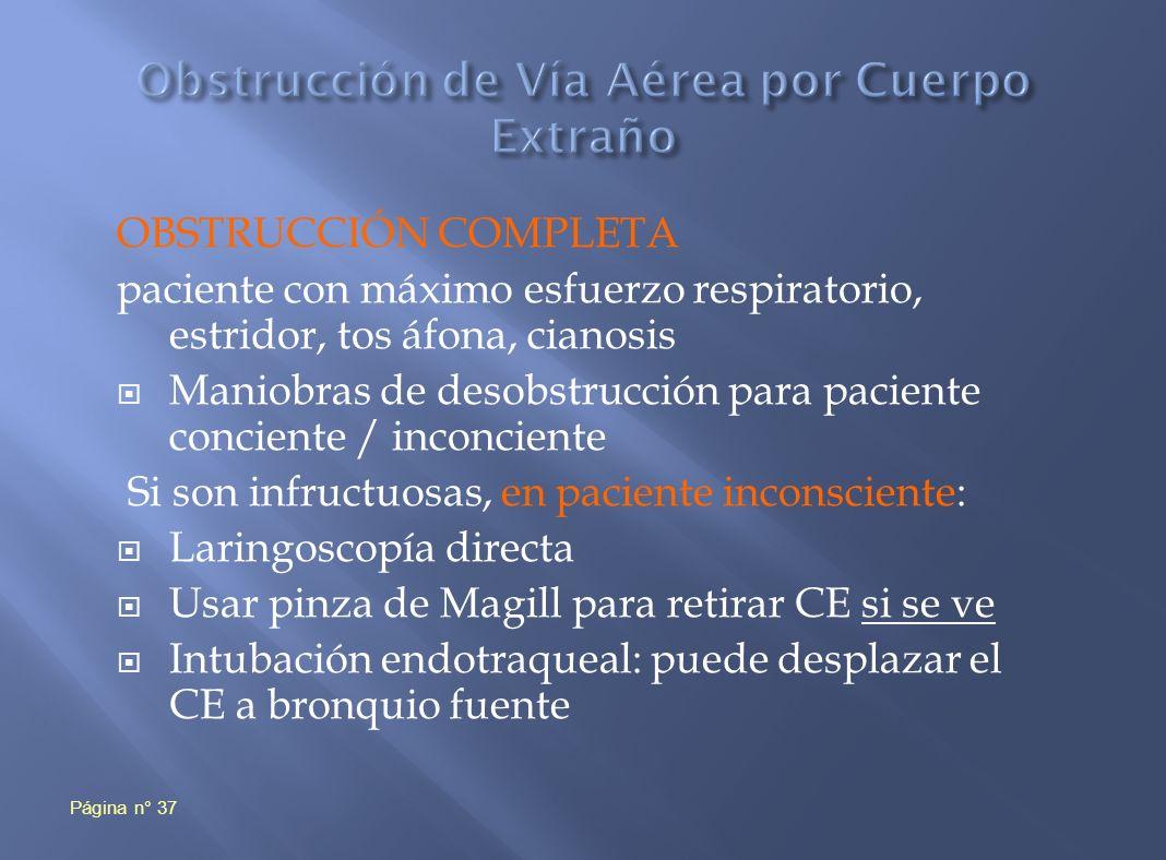 Obstrucción de Vía Aérea por Cuerpo Extraño