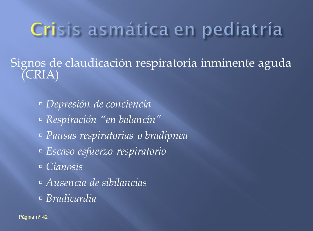 Crisis asmática en pediatría