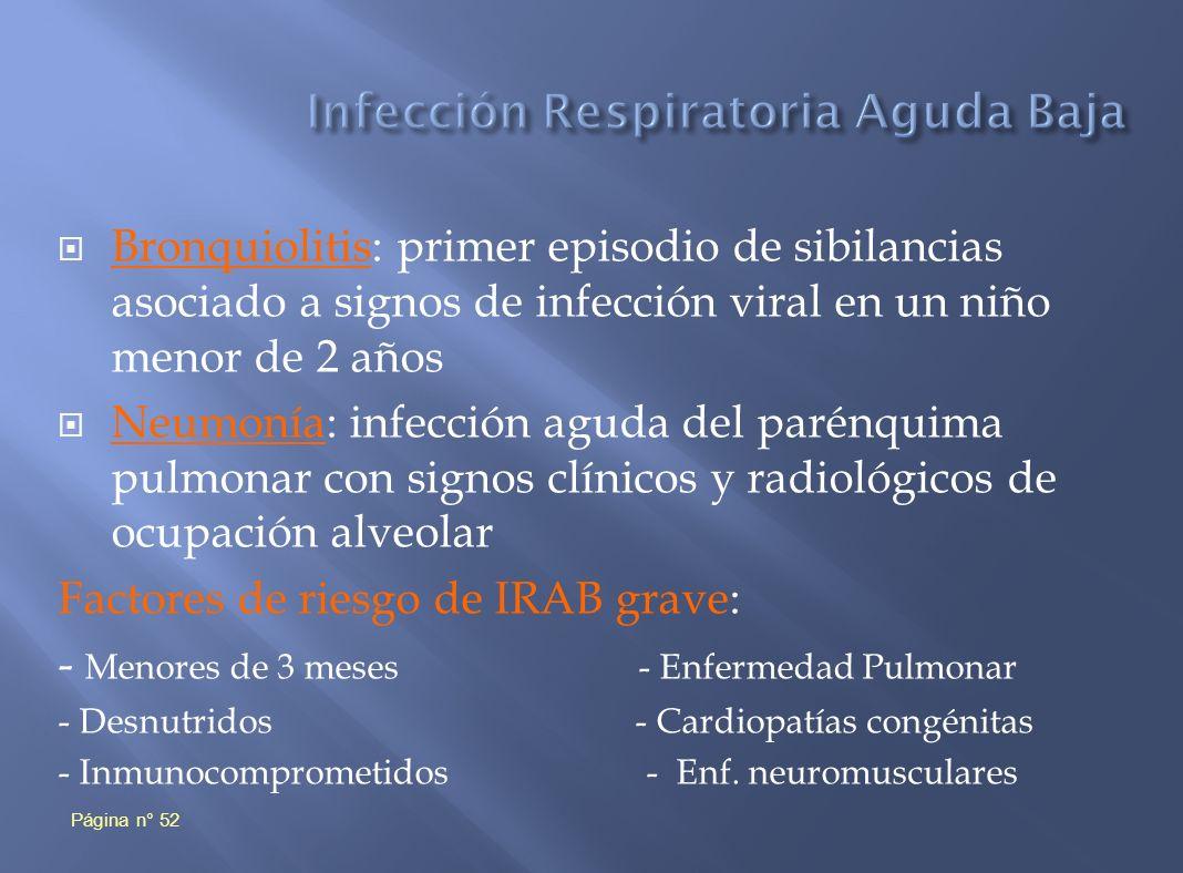Infección Respiratoria Aguda Baja