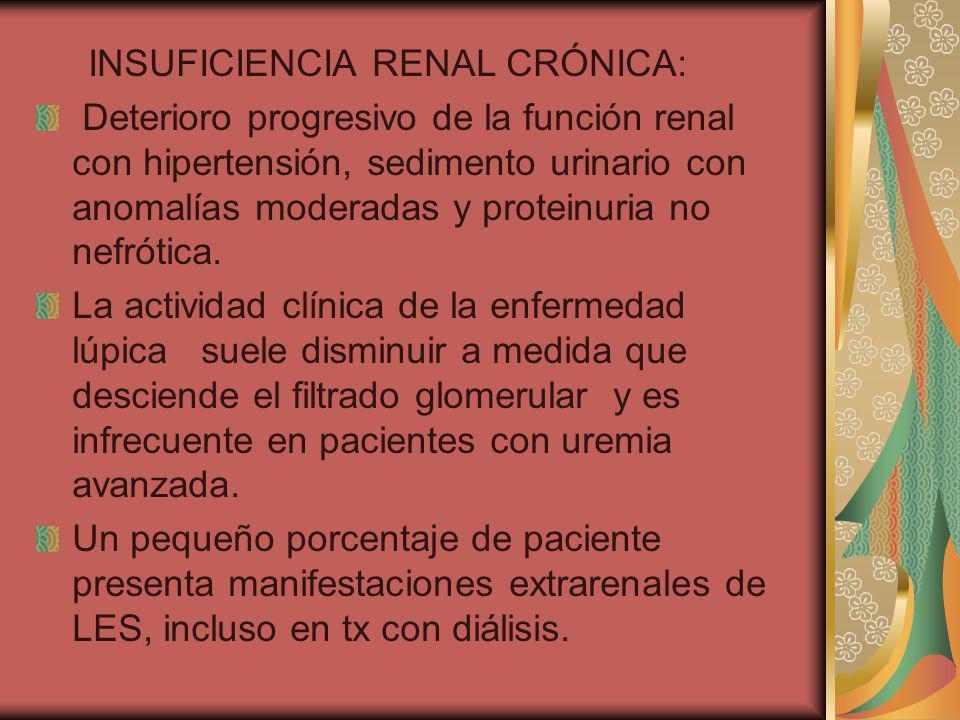 INSUFICIENCIA RENAL CRÓNICA: