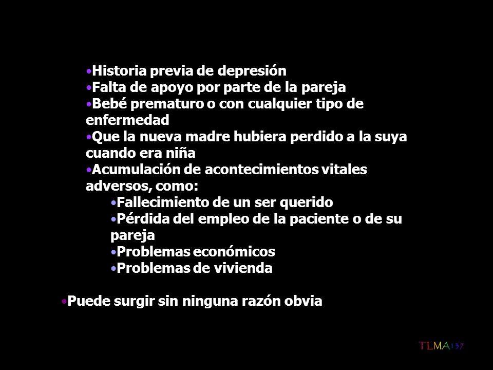 Historia previa de depresión