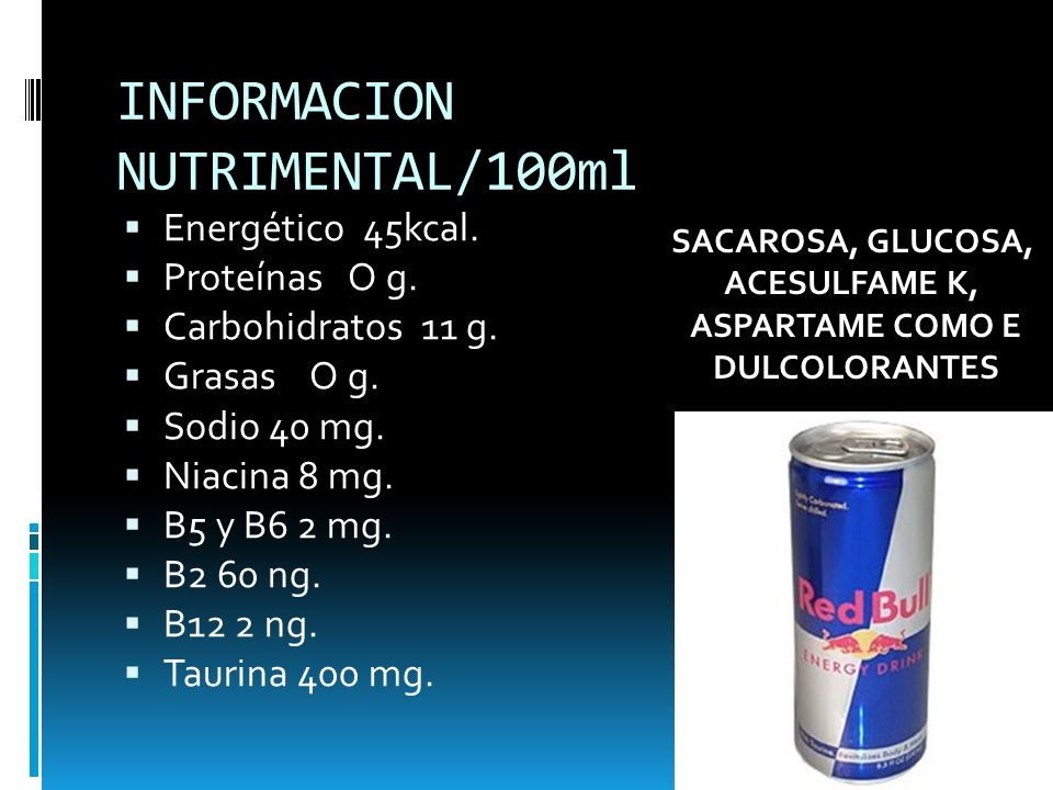 INFORMACION NUTRIMENTAL/100ml