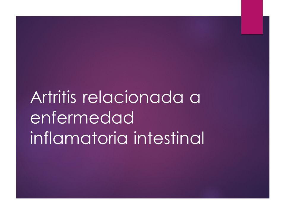 Artritis relacionada a enfermedad inflamatoria intestinal