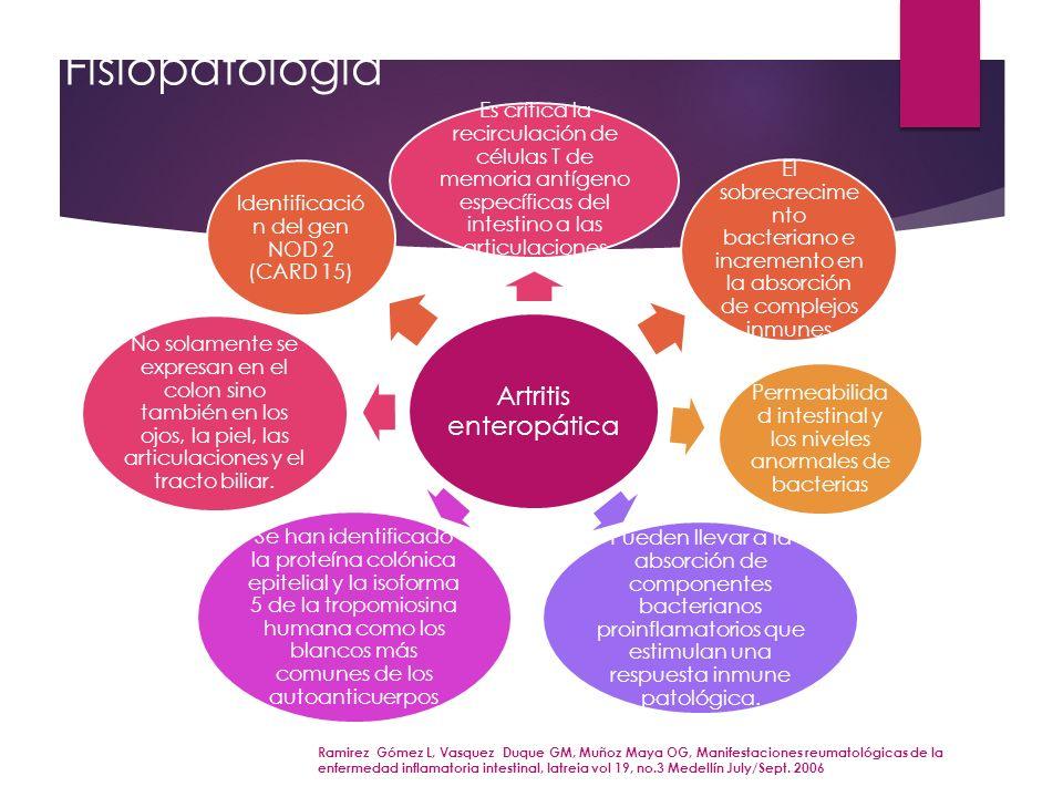 Fisiopatología Artritis enteropática