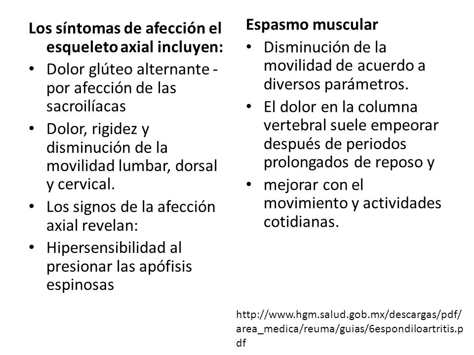 Disminución de la movilidad de acuerdo a diversos parámetros.