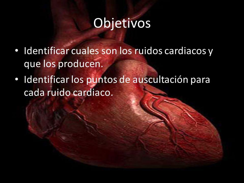 ObjetivosIdentificar cuales son los ruidos cardiacos y que los producen.