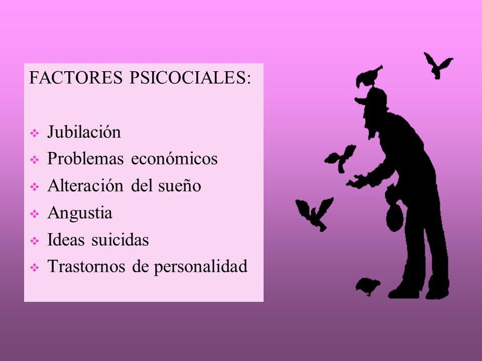 FACTORES PSICOCIALES: