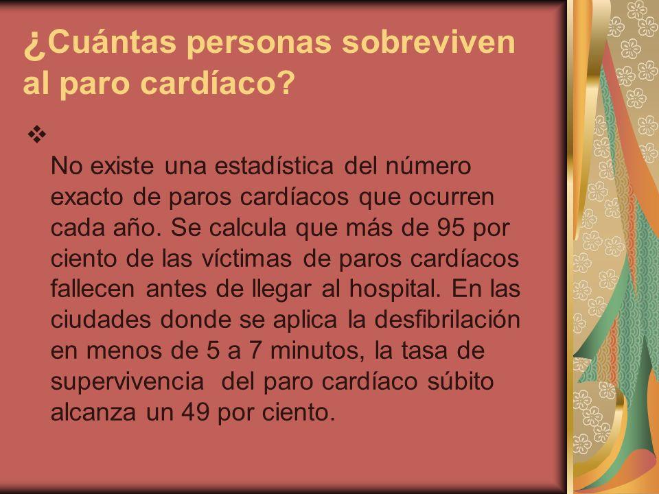 ¿Cuántas personas sobreviven al paro cardíaco