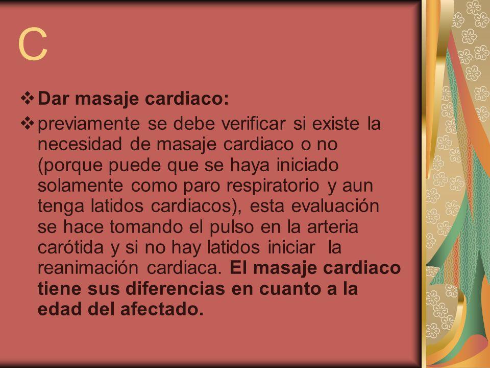 CDar masaje cardiaco: