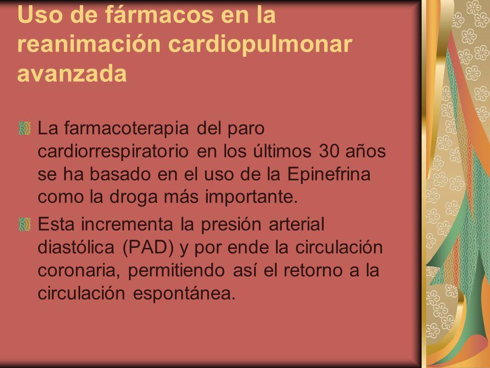 Uso de fármacos en la reanimación cardiopulmonar avanzada