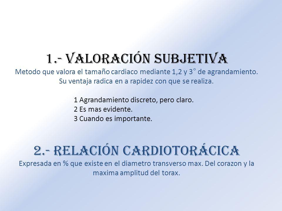 1.- Valoración subjetiva