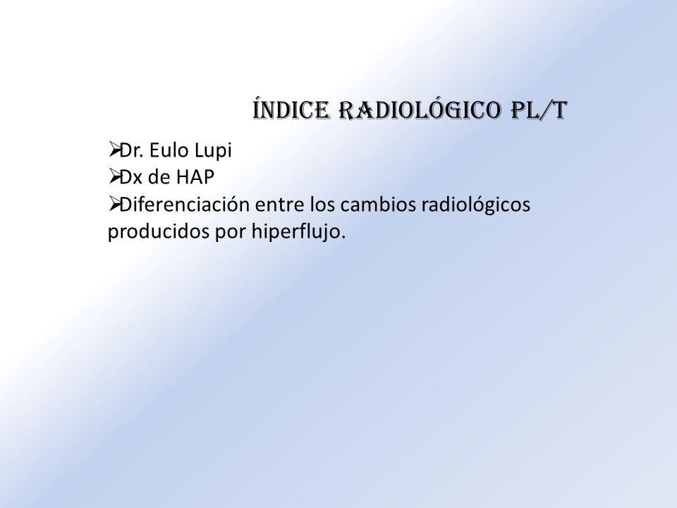 Índice radiológico PL/T