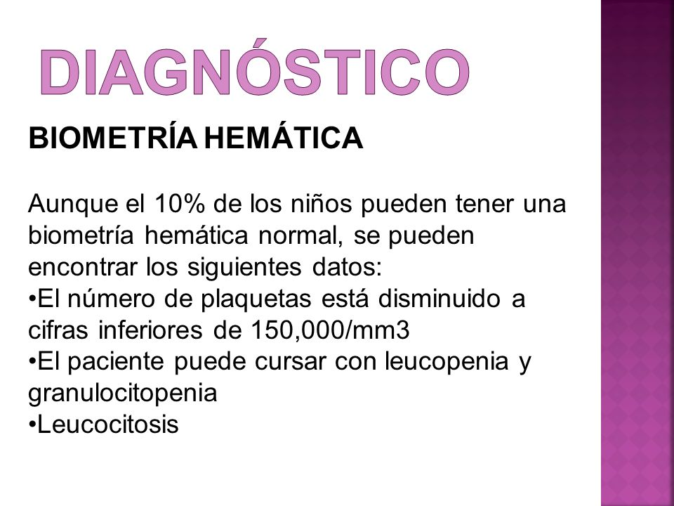 diagnóstico BIOMETRÍA HEMÁTICA