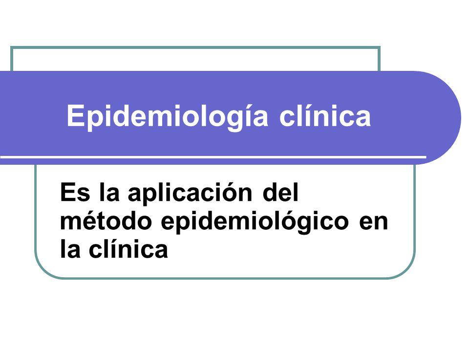 Epidemiología clínica