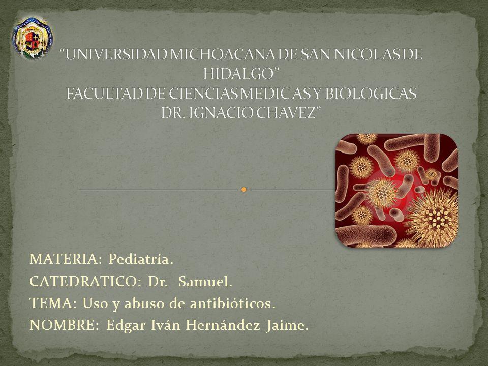 UNIVERSIDAD MICHOACANA DE SAN NICOLAS DE HIDALGO FACULTAD DE CIENCIAS MEDIC AS Y BIOLOGICAS DR. IGNACIO CHAVEZ