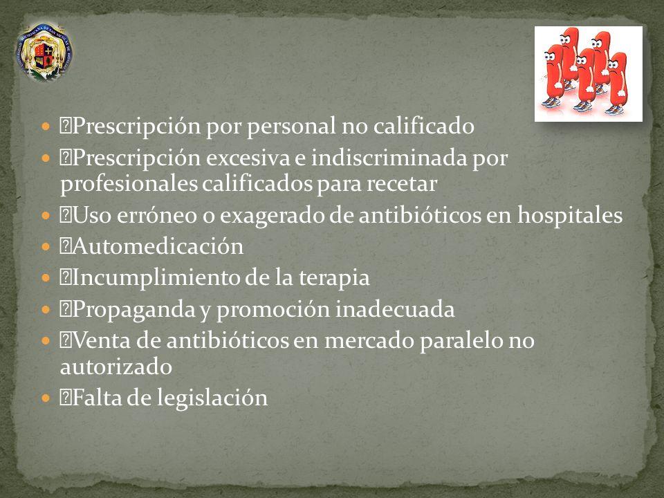 Prescripción por personal no calificado