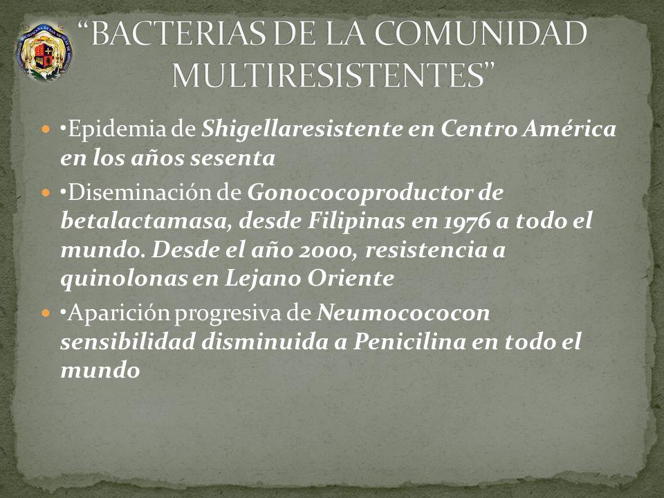 BACTERIAS DE LA COMUNIDAD MULTIRESISTENTES