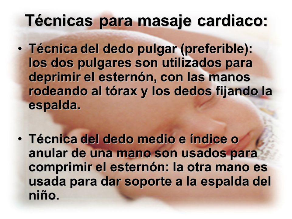 Técnicas para masaje cardiaco: